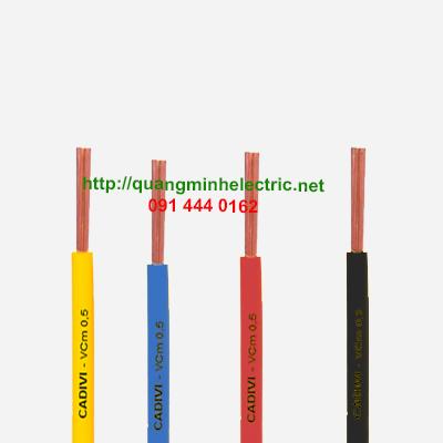 Dây điện đơn ruột đồng cadivi VCm 0.5