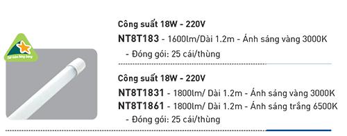 Bóng đèn dài 1m2 nanoco giá rẻ