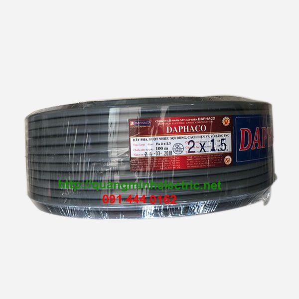 Dây Điện Đôi Bọc Nhựa Xám 2 x 1.5 Daphaco