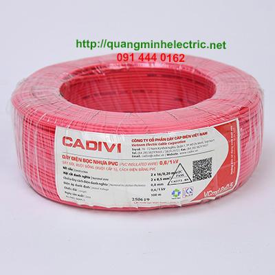 dây điện đôi dân dụng ruột đồng Cadivi